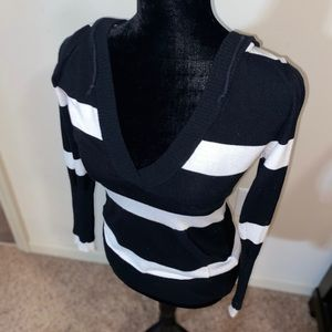 Black and white stripped sweater